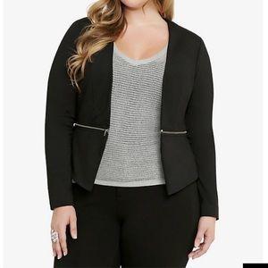 Torrid zipper detail ponte blazer wear two ways